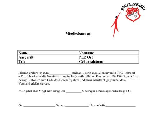 Tsg Rohrdorf Ev Förderverein